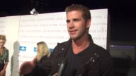 Liam Hemsworth on his outfit on the comfort of Louis Vuitton clothes on what he thinks of the new Louis Vuitton store on what he wants for his fall...