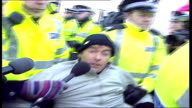 Former leader of Scottish Socialist Party sues News of the World TX Faslane Tommy Sheridan arrested during demonstration against Trident nuclear...