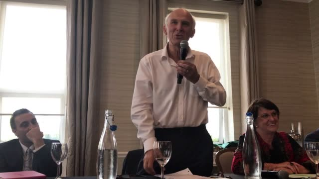 Liberal Democrat leader Vince Cable speaks during a fringe event on the first day of the Liberal Democrats Autumn Conference in Bournemouth