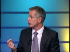 Liberal Democrat mayoral candidates ENGLAND London GIR INT Brian Paddick LIVE STUDIO interview SOT Discusses his opinions to improve London's...