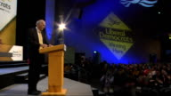 Vince Cable accuses Conservatives of lying over taxation SCOTLAND Glasgow INT Vince Cable MP sitting in audience at Liberal Democrat Conference Cable...