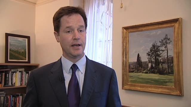 Liberal Democrat party leader Nick Clegg comments on talks with Conservative party officials after UK general election resulted in a hung parliament...
