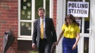 Liberal Democrat party leader Nick Clegg vots in Britains general election
