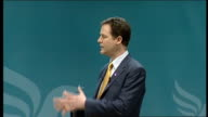 Nick Clegg speech Clegg speech SOT You did it You designed the policy You voted for it at a conference like this one You campaigned for it And now...