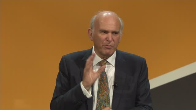 Sir Vince Cable speech Cable speech continues SOT
