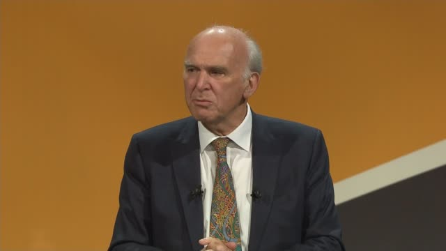 Sir Vince Cable speech Sir Vince Cable MP speech SOT
