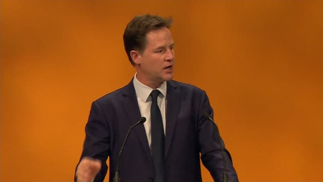 Nick Clegg speech Clegg speech SOT Labour battered at the ballot box now battering each other and only speaking to itself The Liberal Democrats...