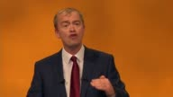 Tim Farron speech Farron speech SOT So that's the Liberal Democrat economic approach Invest in infrastructure innovation and innovators Pay off our...