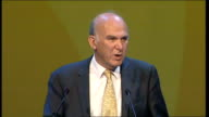 Vince Cable speech Vince Cable MP speech continues SOT The Liberal Democrat approach to tax is also fundamentally different from the Tories The...