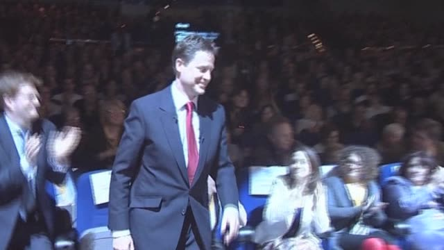 Liberal Democrats party leader Nick Clegg at party conference London 12 March 2010