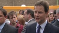 Liberal Democrats party leader Nick Clegg on campaign trail ahead of general election on May 6 UK 28 April 2010