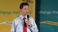 Liberal Democrats party leader Nick Clegg on campaign trail ahead of general election on May 6 UK 4 May 2010