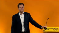 Nick Clegg QA session Nick Clegg SOT Some of the changes of welfare / Those of you know about the change from DLA to PIP payments / There was worry...