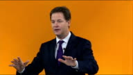 Nick Clegg speech Nick Clegg speech SOT Did you notice the bizarre mixed messages from the Conservative party after Eastleigh An article in one...