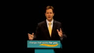 Nick Clegg speech Nick Clegg MP speech SOT Something really important has been happening in our politics for years Something big – but gradual so...