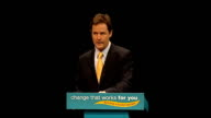 Nick Clegg speech Nick Clegg MP speech SOT Growth that lasts does not threaten our children's future It recognises that our planet is a gift that...