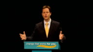 Nick Clegg speech Nick Clegg MP speech SOT The Conservatives may want tax cuts for millionaires We will deliver tax cuts for millions But it has to...