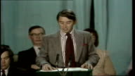 David Steel speech WALES Llandudno MS Steel introduced MS Steel to mike MS PAN applause MS Steel on platform MS Ditto MS Steel SOF ' Look at the...