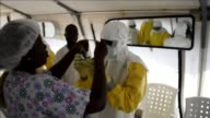 Liberias chief medical authority has placed herself in quarantine following the Ebola death of her deputy health officials and humanitarian sources...