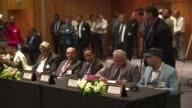 Libyan political parties and members of civil society initialled a UN proposed peace accord in Morocco on Saturday despite the absence of a rival...