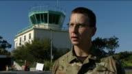 Interview with Group Captain Chris Jones at RAF base in Cyprus CYPRUS Akrotiri EXT Group Captain Chris Jones interview SOT On his role to enable the...