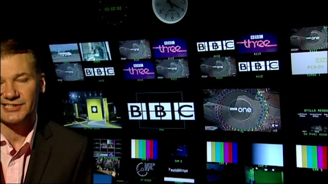 BBC licence fee to be frozen for at least one year London Reporter to camera