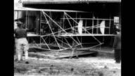 Lieutenant Benjamin Delahauf Foulois sitting behind desk talking about early aviation Lieutenant Foulois discusses early aviation on January 01 1953
