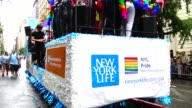 NY Life Insurance NYL Pride Employee Resource Group parades during the annual New York City Gay Pride Parade / The parade celebrates the Supreme...