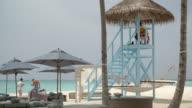 Lifeguard Tower on the beach / Hithadhoo, Maldives