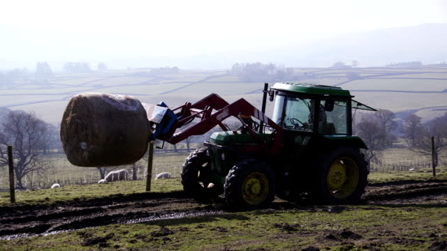 Lifting a Silage Bale