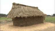 A light breeze rustles the hay on a Japanese Funano.