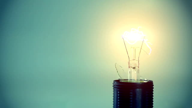 Light bulb & electric arc