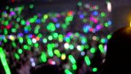 Leichte sticks Konzert Menschenmenge