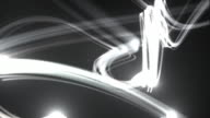 Light Streaks Background Loop - Black and White (Full HD)