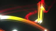 Light Streaks Background Loop - Fiery Red (Full HD)