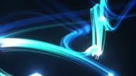 Licht Streifen Hintergrund Loop-strahlende Blau (Full HD