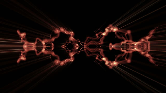 Light waveforms ripple and shine (Loop).