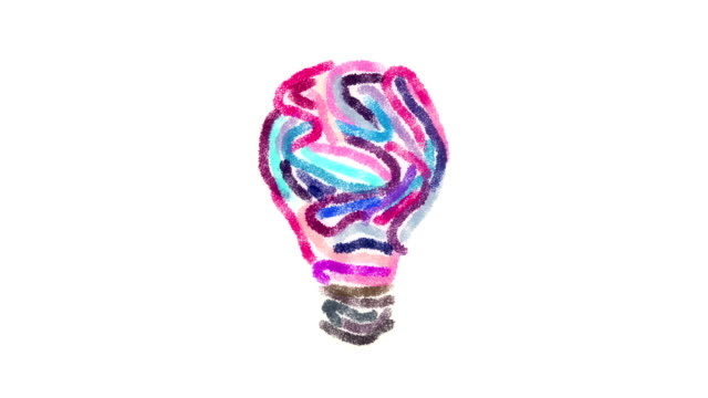 Lightbulb creativity background