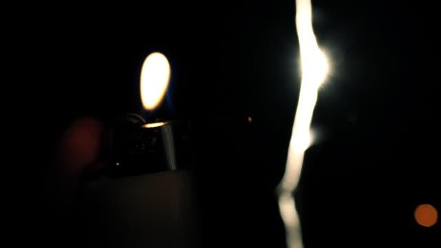 Lighter in the night