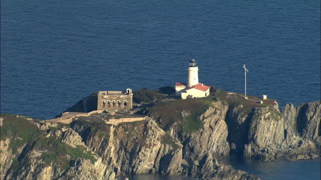AERIAL, Lighthouse, Ile du grand Ribaud, Marseille, Provence-Alpes-Cote d'Azur, France