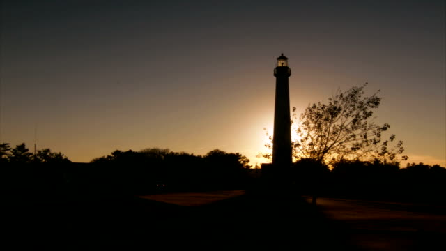 Lighthouse Silhouette at Sunset (Alt) - HD