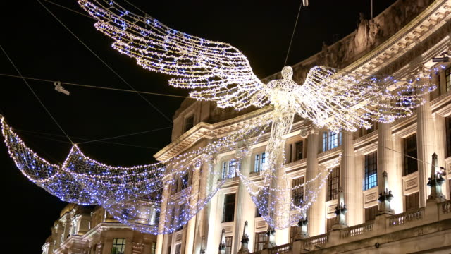 4K Lighting Christmas & Shopping on Oxford street, London