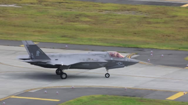 Lightning II aircraft with Marine Fighter Attack Squadron 121 depart Marine Corps Air Station Iwakuni Japan The F35B Lightning II is a...