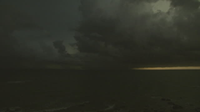 Lightning in evening tropical storm, Australia