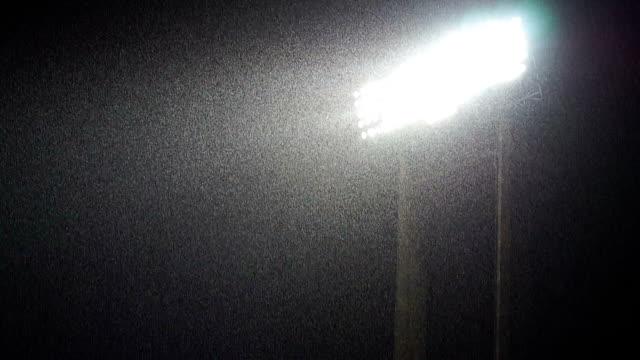 Lightning lights with heavy raining
