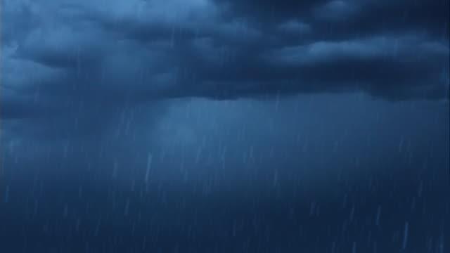 Blitze und Sturm und Regen
