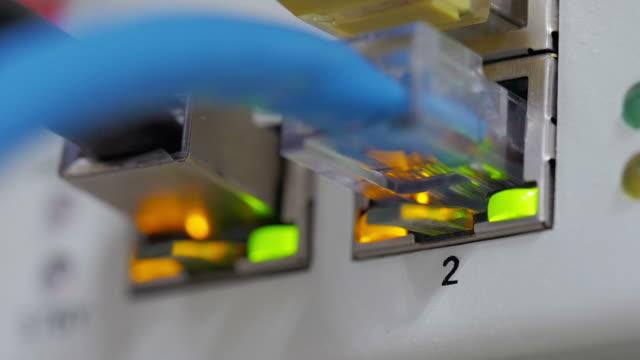 Lichter und Verbindungen auf Netzwerk-server