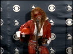 Lil' Kim at the Grammy Awards press room on February 25 2002