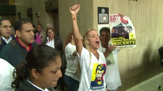 Lilian Tintori wife of jailed Venezuelan opposition leader Leopoldo Lopez and other relatives of what the opposition call political prisoners...
