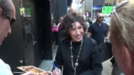 Lily Tomlin leaving the 'Good Morning America' show signs and poses for photos in Celebrity Sightings in New York